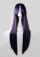 Wholesale 100cm Umineko no Naku Koro ni Frederica Bernkastel Purple Straight Cosplay Costume Wig inches High Temperature Fiber Wig BW006