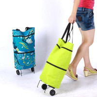 Folding shopping cart - hot shopping bag shopping cart wheeled bags travel bag multifunctional wheeled bags Fashion style home