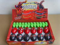 Children lovely gift Spiderman LED Flash Light Spinning Spin...