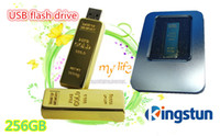 Wholesale GB Flash disk Fashion Gold bar USB U disk plug and play Flash Memory USB flash driver GB High Quality FREE DHL EMS