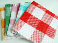 Wholesale 100 Cotton Colourful Plaid Duster Cloth Cleaning Cloth Kitchen Dish Towel FF1101