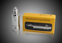 Wholesale NEWEST metal e liquid bottle ml EGO bottle with screw cap No leakage eco friendly Needle bottle for EGO e cig Key Chain e cigarette