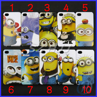 Wholesale Cartoon Cute Case Despicable Me Minions Hard Plastic Back Cover Skin Cases for iphone S G S
