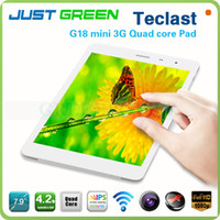 Teclast 7.9 inch Quad Core 10PCS Wholesale Teclast G18 Mini 7inch WCDMA 3G phone call tablet GPS+Dual Camera+Bluetooth+Wifi Android Quad Core 1.2GHz