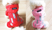 Wholesale 100pcs New Pet Beautiful Dog Clothes Hoodie Dog Raincoat