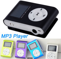 Wholesale USB Cables Earphones clip mp3 player with screen Support Gb TF card colorful mini mp3 player