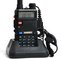 Wholesale Walkie Talkie BAOFENG UV R Dual Band CB Radio Transceiver Mhz amp Mhz Two Way Radio A0850A with FREE PTT EARPHONE