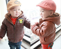 Wholesale New Style Korean Year Baby Leather Coat Fashion Zipper Best Quality Thicken Leyo Warm Kids Boys Hoodies Jacket QZ188