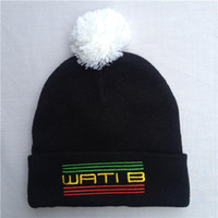 Wholesale New Hot WatiB Hats Supply Co Beanie Hats Wholesle hats Wool Winter Caps with tags Women s Knitting Beanies with Pom Mix Order