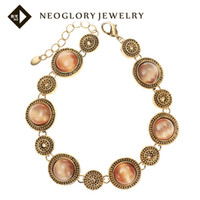 Wholesale Neoglory MADE WITH SWAROVSKI ELEMENTS Rhinestone Opal Vintage Bracelets amp Bangles for Women New Cyber Monday Christmas