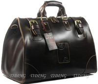 Wholesale Men s Womens Real Large Hard Leather Travel Bag Luggage Suitcase Weekend Handbag