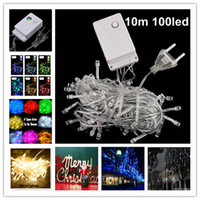 Wholesale Holiday Sale Outdoor m LED string Colors choice Red green RGB Fairy Lights Waterproof Party Christmas Garden lights