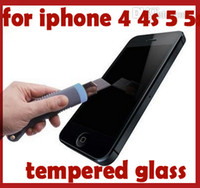 Wholesale shatter proof premium tempered glass screen protector guard mirror function for iphone s c s
