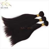 Wholesale Virgin Braiding Human Hair Bulk no Weft Silky Straight Hair AAAA inch to inch Mix Length Bulk Hair for Micro Braids