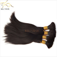 Wholesale Peruvian Human Hair Bulk Braids Hair Extensions Silk Straight Hair Mixed Length inch to inch Raw Human Hair