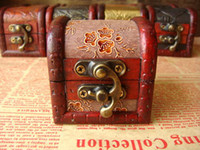 Vintage Jewelry Boxes wood jewelry box, the wedding ring earr...