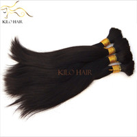 Wholesale Peruvian Virgin Braiding Hair Bulk Extensions Soft Straight Hair Mixed Length inch to inch Raw Human Hair