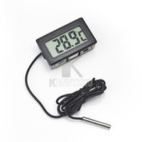 Wholesale Mini LCD Electric Thermometer High Temperature Resistance Freezer Fish Tank Temperature Thermometer With Probe White Black