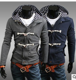 Free shipping! Man's Fashion Hooded Double placket Upper outer garment AQW023