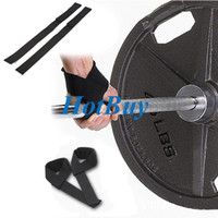Wholesale 2 Padded Gym Bodybuilding Exercise Training Weight Lifting Hand Wrist Bar Support Strap Brace Wrap