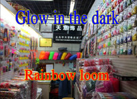 Wholesale Rainbow loom glow in the dark silicone band Colorful Refill DIY LOOM Band Bands quot S quot Clips gift bag in Stock