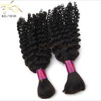 Wholesale Virgin Malaysian Deep Wave Braiding Hair Bulk Mix Size inch to inch Braids Human Hair Extensions Bulk Price FREE DHL