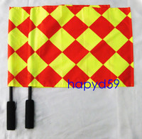 Wholesale new soccer referee Flag Football Referee linesman flag Soccer referee equipment HOT