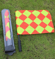 Wholesale new pair soccer referee Flag Football Referee linesman flag Soccer referee equipment HOT