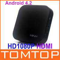 Wholesale Mini PC Android TV Player Box Dual Core G GB HD1080P HDMI Wifi Remote Control Media Player US Plug V547US