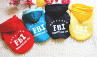 Wholesale 100pcs color FBI overcoat jacket fashion pet clothes Fleece dog coat size S XXL winter ware F114