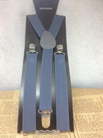 Wholesale Fashion Suspenders dark grey color suspenders strong elastic good quality SFSPP1007