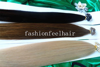 black straight 1.0g STOCK-- Brazilian long24'' 26'' 28'' Keratin flat tip hair extensions brazilian Remy Human Hair 1g s 100g #2#6#613