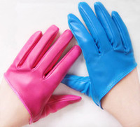 Wholesale New Fashion Sex and The City PU Leather Five Finger Women s Half Palm Gloves
