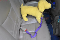Wholesale Lefdy New Colour Strong pet Dog Car Travel Seat Belt Clip Lead Restraint Harness Auto traction leads
