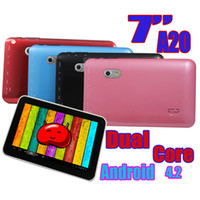 7 inch Dual Core Android 4.2 Q8 Q88 Promtion 7 Inch Dual Core Allwinner A20 Android 4.2 Tablet PC 800*480 512MB RAM 4GB ROM Dual Camera HDMI 5 Color Free shipping 10pcs
