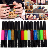 12 Colors Two- way Acrylic For Professional Nail Art Polish P...