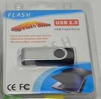 DHL UPS Swivel Flash USB 128Go 256Go Swivel USB 2.0 USB Logo OEM impression Memory Stick Bâtons en plastique pivotantes USBs U Disk