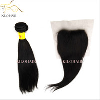 Wholesale Virgin Brazilian Hair Weft with Top Closure x4 Lace Closure pc Silk Straight Human Hair Extensions Weave inch to inch