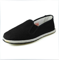 Wholesale Bruce Lee Vintage Chinese Kung Fu cloth shoes Wing Chun Tai Chi Slipper Martial Art Footwear Old Beijing cloth shoes