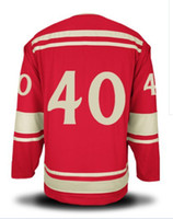 Ice Hockey Men Full 2014 Winter Classic #40 Red Color Henrik Zetterberg Hockey Wears Hockey Jerseys