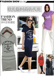 Wholesale 2013Europe station Hitz long sleeved hooded letters European and American big winter long section DHL free
