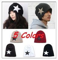 Wholesale Unisex Men Women Knitted Star Beanie Baggy Slouch Cap Hat Oversize Crochet Knit Colors