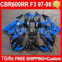 Blue black High Quality+ Fit 97- 98 HONDA CBR600F3 blue CBR60...