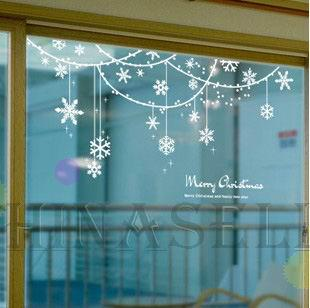 Christmas New Year Snowflake Ring Wall Stickers Shop ...