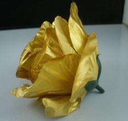 Wholesale Hot Artificial Flowers Gold Roses Flower Head Flower Ball Flower Arrangement Silk Flower b47