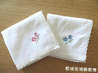 Wholesale 10pcs Embroidery Tulip Cotton Kitchen Duster Cloth Kitchen Cleaning Cloth Cheap Cleaning Rags FF1105