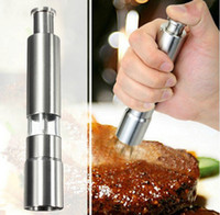 pepper mill - Hot selling Stainless Steel Thumb Push Salt Pepper Grinder Spice Sauce Mill Grind Stick Tool
