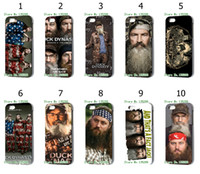 Wholesale hot The latest design Duck Dynasty desgins hard white case cover for iphone s th