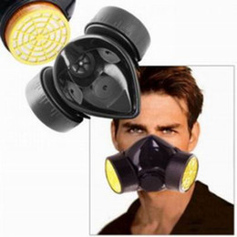 1 Piece Double Cartridges Anti-Dust Paint Respirator Mask for Industrial Gas Chemical Painting Use