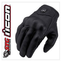 Wholesale American ICON invisible motorcycle gloves punch goat leather gloves super ventilation function